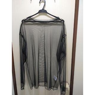 ウィゴー(WEGO)の【新品】WEGO 重ね着用メッシュロンT ブラック フリーサイズ(Tシャツ(長袖/七分))