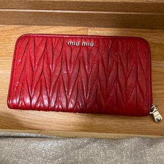 miumiu - お手頃でミュウミュウ財布マテラッセ⭐︎