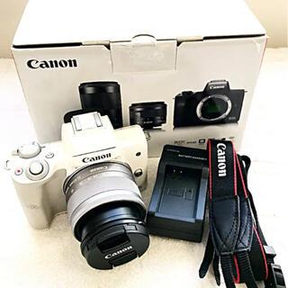Canon EOS kiss M 15-45レンズキット ミラーレス ホワイト