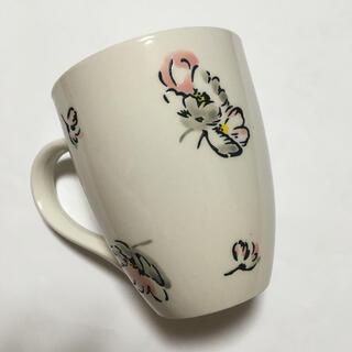キャスキッドソン(Cath Kidston)のマグカップ キャスキッドソン スキャッタードコスモス  花 秋桜(グラス/カップ)
