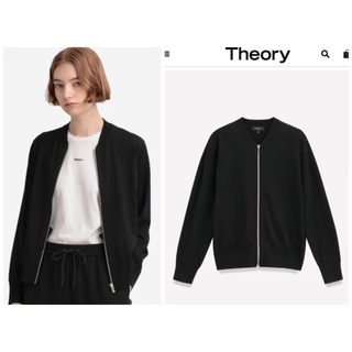 theory - 新品☆theory☆ニットブルゾン 秋アウター