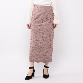 ミッシュマッシュ(MISCH MASCH)のスエード刺繍ロングタイト(ロングスカート)