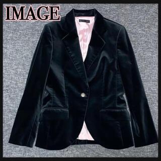 イマージュ(IMAGE)のImage ベルベットテーラードジャケット 未使用品(テーラードジャケット)