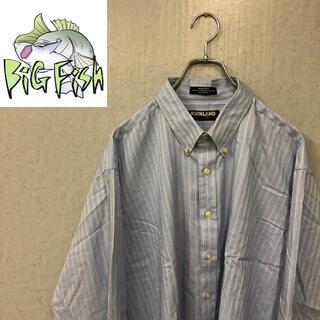 コストコ(コストコ)のKIRKLAND ライトブルーストライプシャツ US古着 ビッグ ストリート(シャツ)
