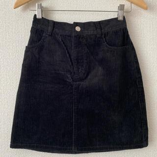ウィゴー(WEGO)のコーデュロイ ミニスカート ブラック(ミニスカート)