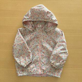 エイチアンドエム(H&M)のH&M 花柄ジップパーカー 80サイズ(ジャケット/コート)