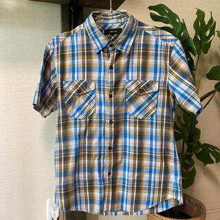 コムサイズム(COMME CA ISM)の半袖シャツ メンズ チェックシャツ(シャツ)