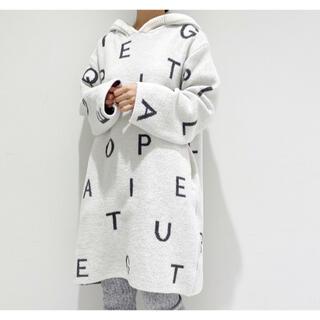 gelato pique - 新品☆パウダーロゴジャガードドレス☆ホワイト