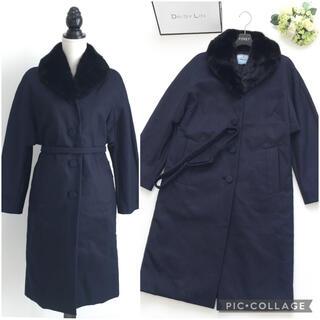 PRADA - 美品 プラダ PRADA ファー ベルト付 中綿 ロング コート