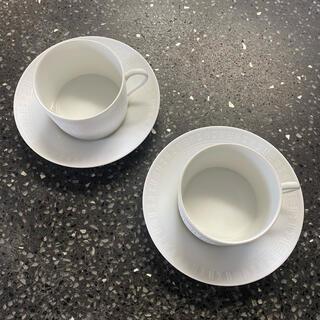 エルメス(Hermes)のHERMESエルメス Egée モーニングカップ 2客セット(食器)