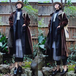 ミュベールワーク(MUVEIL WORK)のmuveil ホワイトチュールシースルー レイヤード刺繍切替ロングスカート 新品(ロングスカート)