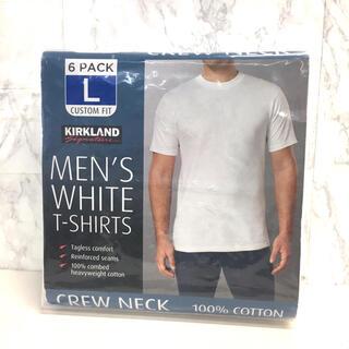 KIRKLAND カークランド メンズ Tシャツ L クルーネックシャツ6枚入り