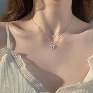 4℃ - double butterflies necklace s925