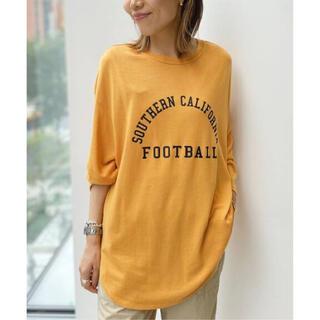 L'Appartement DEUXIEME CLASSE - 新品【Americana/アメリカーナ】Football T-sh イエロー