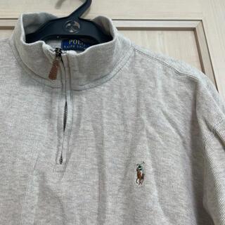 ラルフローレン(Ralph Lauren)のラルフローレン 2XL ベージュ コットン 薄手セーター ハーフジップ(ニット/セーター)