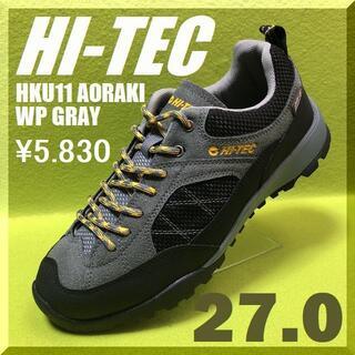 ハイテック(HI-TEC)の人気再入荷 27.0cmハイテック HKU11 アオラギWP グレー(スニーカー)
