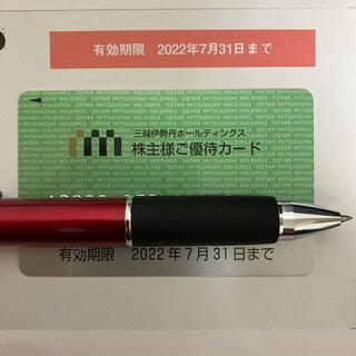 三越伊勢丹 株主優待カード 限度額30万円