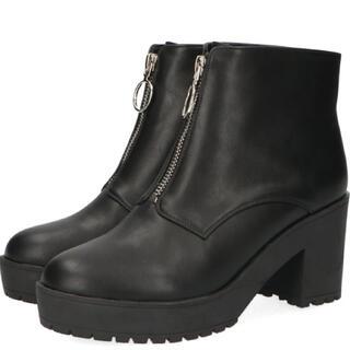 オリエンタルトラフィック(ORiental TRaffic)のジップ厚底ブーツ(M size)(ブーツ)