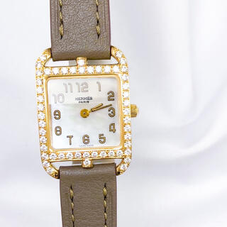 Hermes - 【仕上済】エルメス ケープコッド シェル文字盤 ダイヤ レディース 腕時計