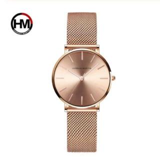 【新品&匿名配送】ハンナマーティン 腕時計 ローズゴールド アクセサリー