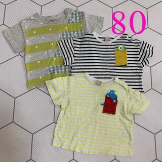 プティマイン(petit main)のプティマインTシャツ 80 まとめ売り(Tシャツ)