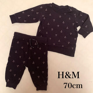 エイチアンドエム(H&M)のH&M スウェット 上下セットアップ 4〜6ヶ月(トレーナー)