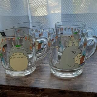 Noritake - ジブリ となりのトトロ ガラスコップ 4個