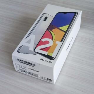 Galaxy - SAMSUNG Galaxy A21 ホワイト UQ SIMフリー