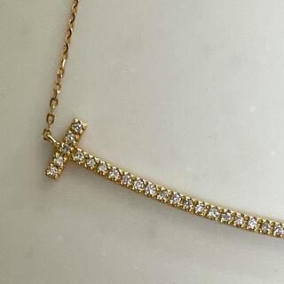 スマイルネックレス ラージ K18 ダイヤモンド ゴールド 7センチ ペンダント
