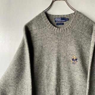 ラルフローレン(Ralph Lauren)のRalphLauren ポロベア ウールニット セーター  希少 状態良好 古着(ニット/セーター)