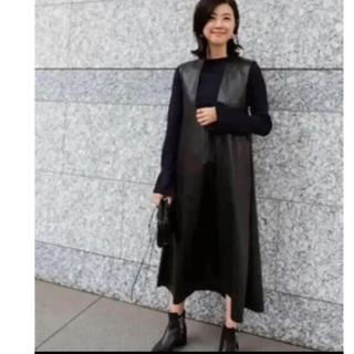 Drawer - machatt エコレザー BLACK  ジャンパースカート
