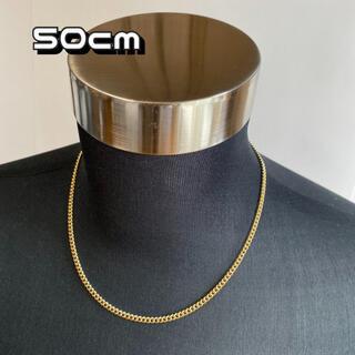 ゴールド チェーンネックレス 【50cm】メンズ ネックレス アクセサリー