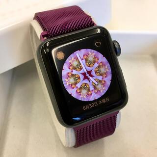 アップルウォッチ(Apple Watch)のApple Watch シリーズ3 GPS 38mm アップルウォッチ 黒(腕時計)
