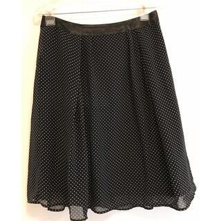 水玉シフォンスカート