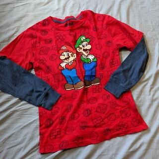 ニンテンドウ(任天堂)のSuper Mario*重ね着風ロンT*L(10/12)(Tシャツ/カットソー)