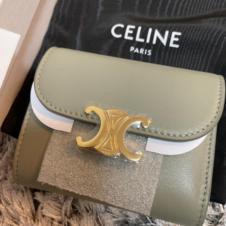 celine - グリーンクレイ セリーヌ 折り財布 新品未使用
