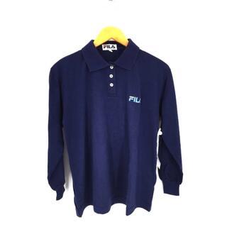 フィラ(FILA)のFILA(フィラ) ワンポイントロゴ刺繍 ロングスリーブポロシャツ レディース(ポロシャツ)