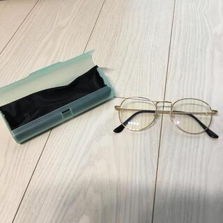美品 ブルーライトカットメガネ 箱付き