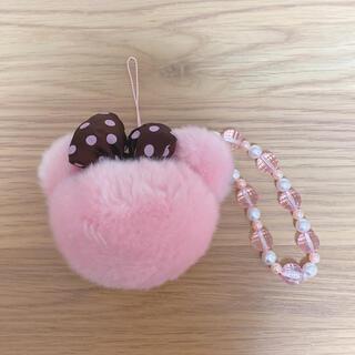 ミニーマウス(ミニーマウス)のミニー ストラップ ぼんぼん ピンク Disney ディズニー(キャラクターグッズ)