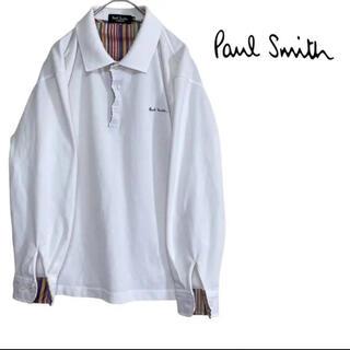 Paul Smith - 【希少】ポールスミス ポロシャツ ポロシャツ マルチストライプ M  刺繍 長袖