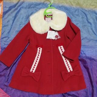 Shirley Temple - 新品タグ付き シャーリーテンプル はしごリボンコート 110 赤