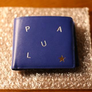 ポールスミス(Paul Smith)のPaul Smith 二つ折り財布 スター 型押し レザー ブルー(折り財布)