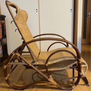 リクライニング チェア ラタン 藤 軽い 椅子 折り畳み