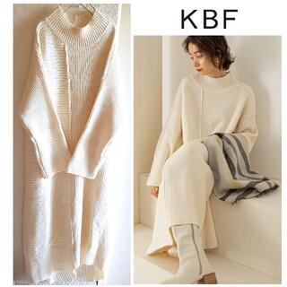 KBF - KBF/ハイネックBIGニットロングワンピース