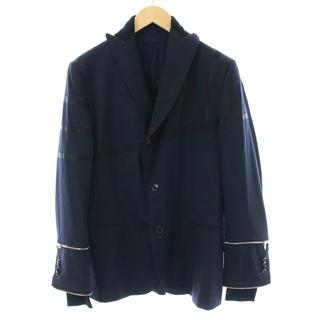 ポールスミス(Paul Smith)のポールスミス テーラードジャケット シングル 切替 袖ジップデザイン L 紺(テーラードジャケット)
