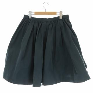 ミュウミュウ(miumiu)のミュウミュウ フレアスカート ひざ丈 イタリア製 44 M 黒(ひざ丈スカート)