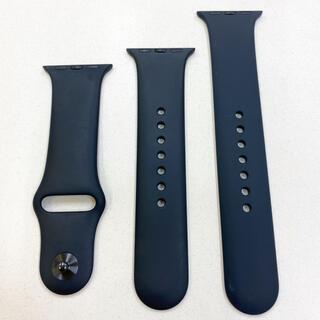 アップルウォッチ(Apple Watch)のアップルウォッチ スポーツバンド 黒 Apple Watch 38/40mm 用(ラバーベルト)