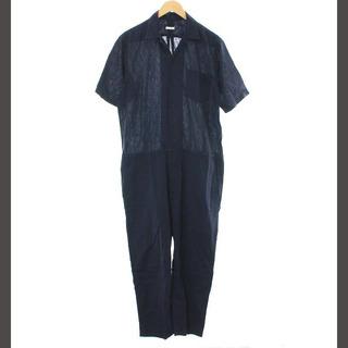 コモリ(COMOLI)のコモリ オールインワン オーバーオール つなぎ ジャンプスーツ 半袖 1 S 紺(サロペット/オーバーオール)