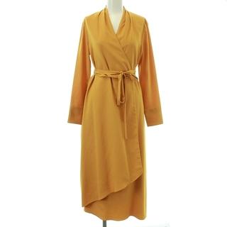 BARNEYS NEW YORK - バーニーズニューヨーク ウォッシャブルラップドレス ワンピース 36 オレンジ