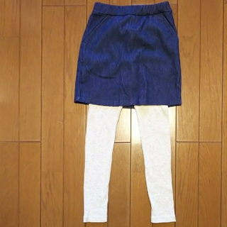 petit main - プティマイン レギンス付きスカート 120